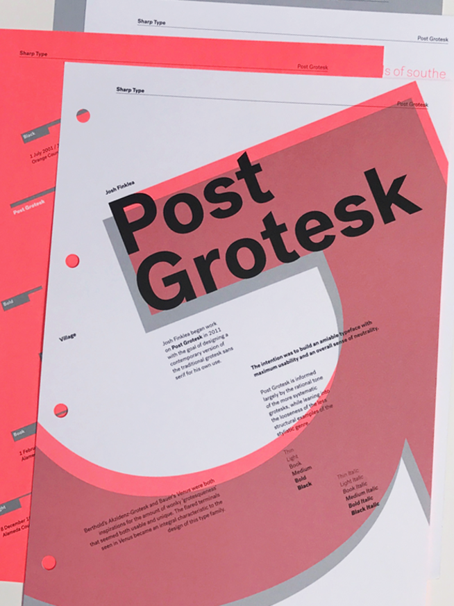 Vllg sharptype postgrotesk overview