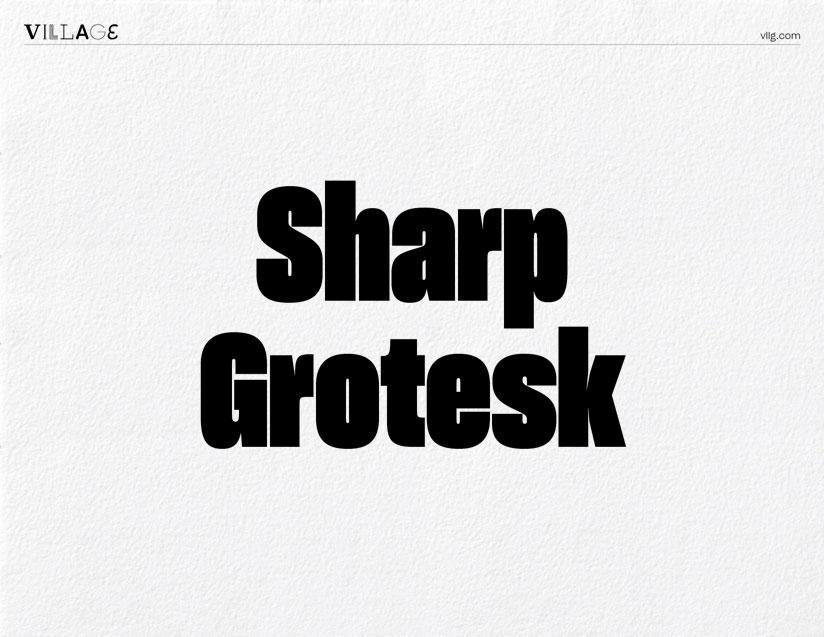 Vllg sharptype sharpgrotesk specimen