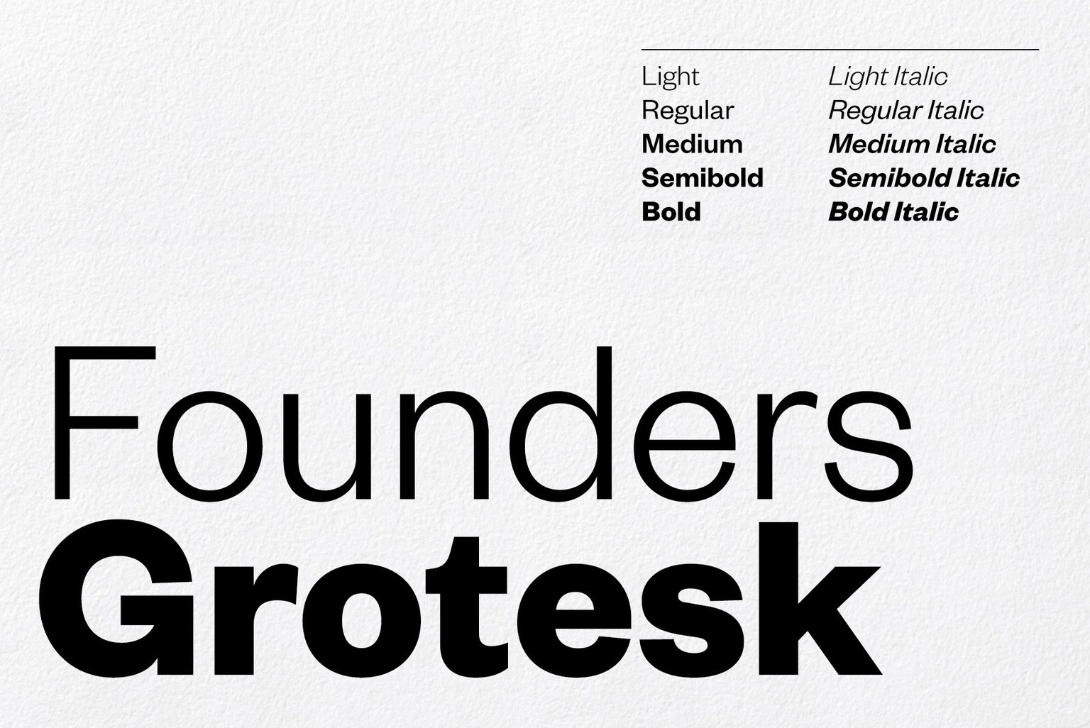 Village: New Type: Founders Grotesk Text